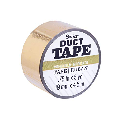 Darice 30079630 Mini-Rolle: Mirror Gold, 0,75 Zoll x 5 Yards Duct Tape,