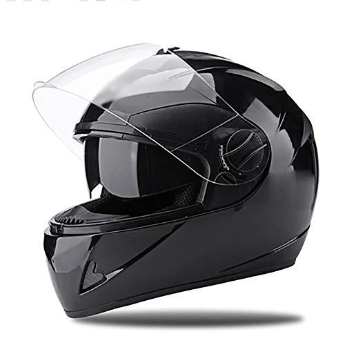 YXDDGt Flip up dual visiere casco integrale Casco moto Sicuro, Confortevole, Unisex-J XL