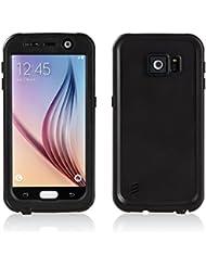 Merit Funda Impermeable para Galaxy S6, Carcasa contra Agua,Golpe y Polvo ,Sellada Plena,Funda de Protección,Protector para Samsung Galaxy S6 (Black)