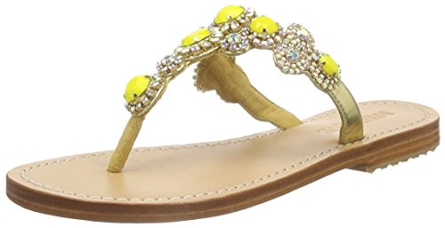Mystique 6271 Mystique Ss16, Sandales ouvertes femme Jaune - Gelb (natural Sole gold-yellow)