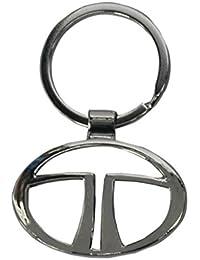 JKbK - Key Ring Key Chain - Logo Tata - Chrome Plated Steel - Imported