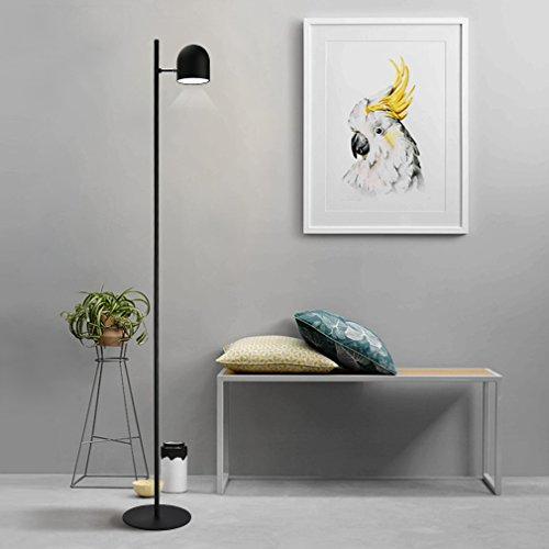 Preisvergleich Produktbild Tonffi Einzelkopf dimmbar Stehlampe LED Standleucht 6W 400LM 5000K Touch-Schalter Standlampe für Wohnzimmerlampe und Studierzimmerlampe schwarz