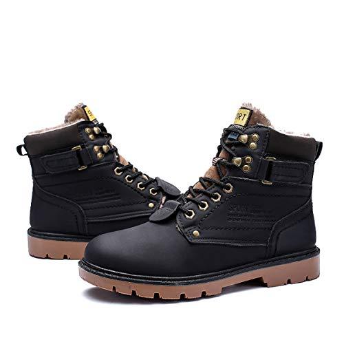 gracosy Uomo Stivaletti da Trekking Pelle più Velluto Neve Boots Invernali Delicatamente...