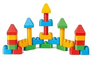PolyM 760005Fantasía Arquitectura de niños pequeños de Juguete, Flexible y rundkantige Ladrillos