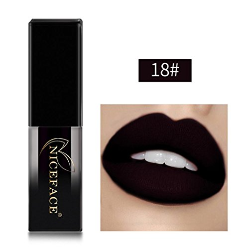 Lipliner Btruely Neue 18 Farben Wasserdicht Langlebige Flüssige Matte Lippenstift Make-Up Lipgloss...