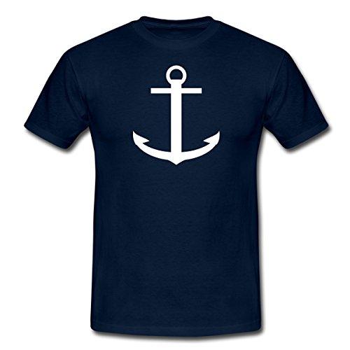Spreadshirt Anker Boot Schiff Kapitän Meer Urlaub Männer T-Shirt, L, Navy