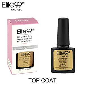 Elite99 Smalto Semipermanente Gel UV LED Serie Shellac Colore con Scatolina 7.3ml Top Coat