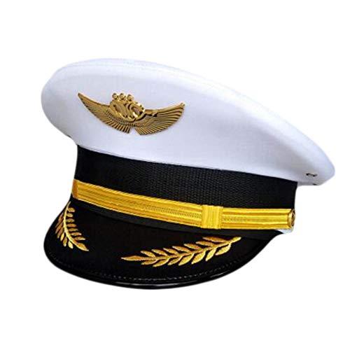 Wukong Paradise Flugzeug Kapitän Cap Uniform Aviation Cap Eisenbahn Hut Kostüm - Kapitän Und Flugbegleiterin Kostüm