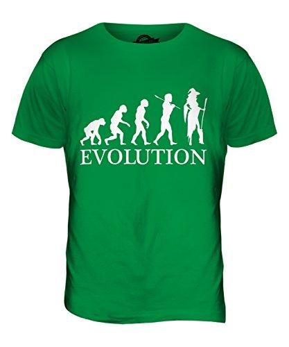 CandyMix Cosplay Evolution Des Menschen Herren T Shirt Grün