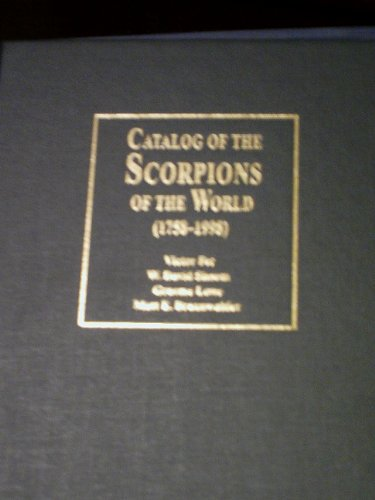 catalog-of-the-scorpions-of-the-world-1758-1998