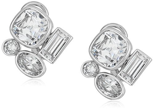 nicole-miller-mixed-cushion-rhodium-clear-stud-earrings