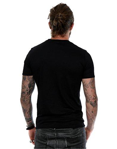 Queen Herren Crest Logo T-Shirt Schwarz