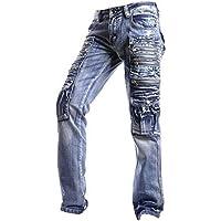 Jeansian Moda Pantaloni Casual Uomo Jeans Denim Sottile Uomini (Camouflage Cotton Tuta)