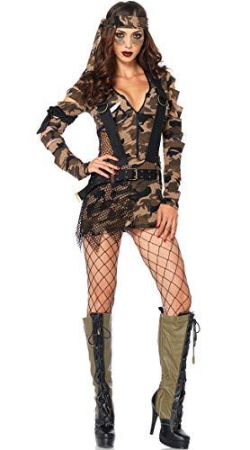 SAMGU Frauen Sexy Tarnung Soldat Militär Kostüm Kommando Anzug Cosplay - Sexy Soldat Kostüm