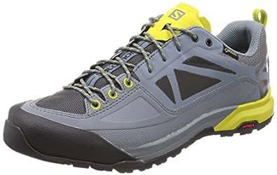 Salomon X Alp Spry GTX, Chaussures de Randonnée Basses Homme, Gris (Stormy Weather/Magnet/Citronelle 000), 44 EU
