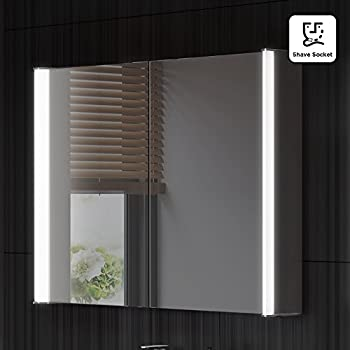 800 X 600 Mm Illuminated Led Bathroom Mirror Cabinet With