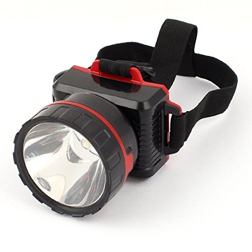 AC110V-240V US Plug Elastic Headstrap 2 Modes 1 White LED Head Light