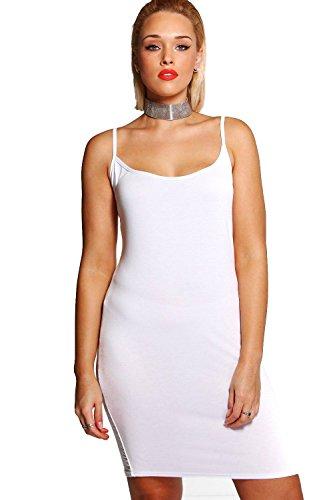 Weiß Damen Plus Neve Bodyconkleid Mit Schmalen Trägern Weiß