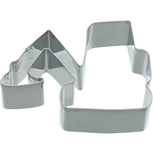 Kitchen Craft Keksausstecher Bagger 9cm aus Metall in Silber, weiß, 28 x 28 x 30 cm