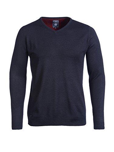 Kensington Eastside Herren Basic Pullover V- Ausschnitt Hamar Marine