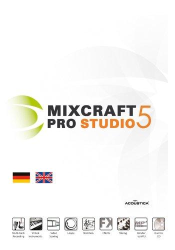 Mixcraft Pro Studio 5 EDU Deutsch/Englisch - Audio MIDI Musikaufnahme Software (7 Mixcraft)