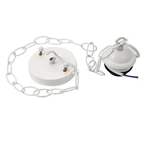 sourcing map Douille Lampe ronde socle à vis ligne réglable 100 blanc Montage E27