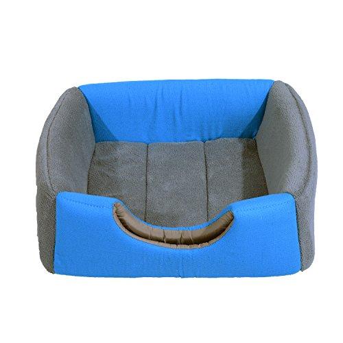 PawHut® Hundebett Katzenhöhle 2 in 1 Hundehütte Katzenbett Schlafplatz Höhle (Blau) - 6