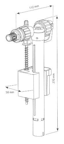 Universal Füllventil Schwimmerventil Compact 95L