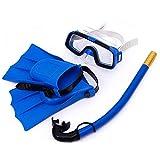 TARTIERY 3-teiliges Kinder-Taucher-Set PVC Brille Knöchel Atmungsröhren Halbtrockenes...
