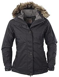 Fifty Five Damen 3-in-1 Dopplejacke   Winterjacke mit Innen-Jacke aus Softshell - Nakina - mit FIVE-TEX Membrane für Outdoor-Bekleidung