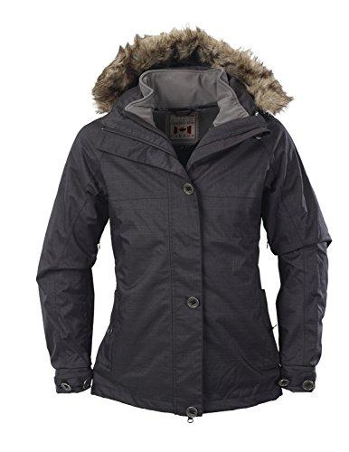 Fifty Five Damen 3-in-1 Dopplejacke | Winterjacke mit Innen-Jacke aus Softshell - Nakina anthracite 42 - mit FIVE-TEX Membrane für Outdoor-Bekleidung