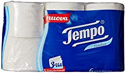 Tempo Toilet Tissue Cotton Touch 3-Ply - 6 Rolls (White)