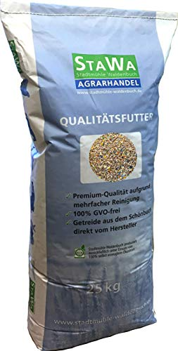 StaWa Kombi Hühnerfutter-Mix 25 kg !!! GVO-frei !!! Alleinfutter + Bierhefe und Oregano-Öl
