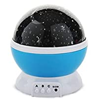 Room Night Light Moon Star Projector 360 Degree Rotation - Night Light Lamp,3 Modes Colorful LED Moon Sky Star Cosmos Starlight Projector for Children Kids Baby Bedroom