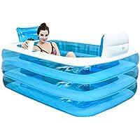 YYQXLZ Inflable baño la bañera se pliega bañera de Adultos Engrosada bañera Barril del baño de plástico (Color : Blue, Size : 180X140X60CM)