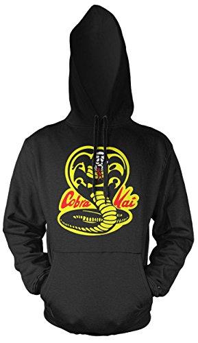 Kostüm Mr Miyagi - Cobra Kai Männer und Herren Kapuzenpullover | Spruch Dojo Karate Kid Geschenk | M1 (XL, Schwarz)