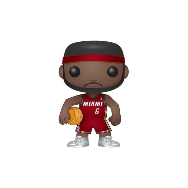 Funko Pop Lebron James Cleveland Cavaliers camiseta roja (NBA 01) Funko Pop NBA