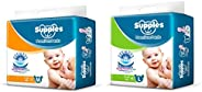 Supples Baby Pants Diapers, Medium, 72 Count & Baby Pants Diapers, Large, 62 C