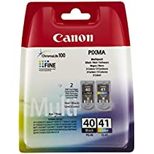 Canon PG40 & CL41 - Pack de 2 cartuchos de tinta original, negro, color