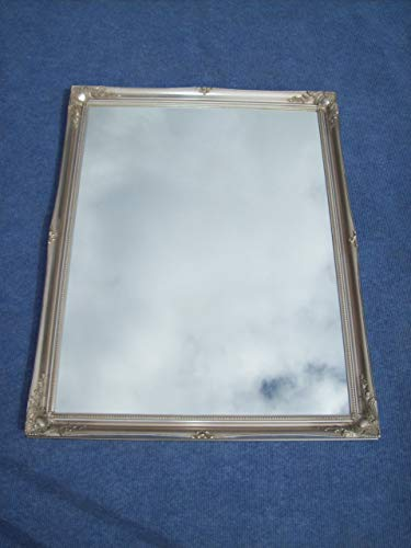 Frames by Post Antik Silber Antik Stil Shabby Chic rechteckiger Wandspiegel Spiegel mit hochwertigem Pilkington-Glas, extra groß Größe: 76,2x 106,7cm (77x 107cm)