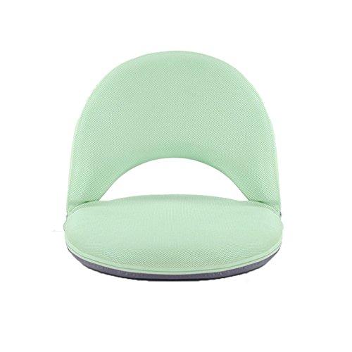 AnseeDirect Boden Stuhl Boden Sofa Einstellbares Kissen 5 Positionen Zurücklehnene Waschbare Weiche Schaum-Abdeckung mit fester Unterstützung für Kinder Erwachsene schwangere Frauen (Grün) (Klick-klack-mechanismus)