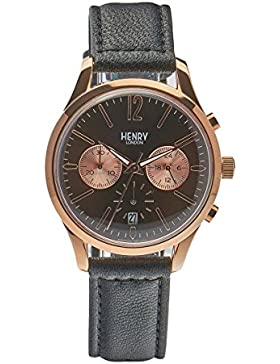 Henry London Unisex-Armbanduhr Harrow Chronograph Quarz Leder HL39-CS-0054