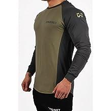 GYMJUNKY DUAL FITTED LONGSLEEVE T-Shirt FITNESS KRAFTSPORT FITNESSTRAINING Langarm Langärmlig