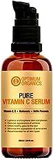 Optimum Organics Vitamin C Serum with Hyaluronic Acid 30% for Face