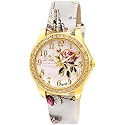 Kitcone Analogue Multicolor Dial Women'S Watch- Grey Floral Print 1980