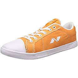 Nivia Men's Orange Sneakers - 8 UK/India (41 EU)(4964)