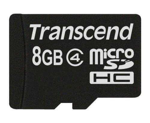 Transcend Karte Micro SD 8GB Klasse 4Ts8Gusdc4Für HTC T7272–Touch Pro