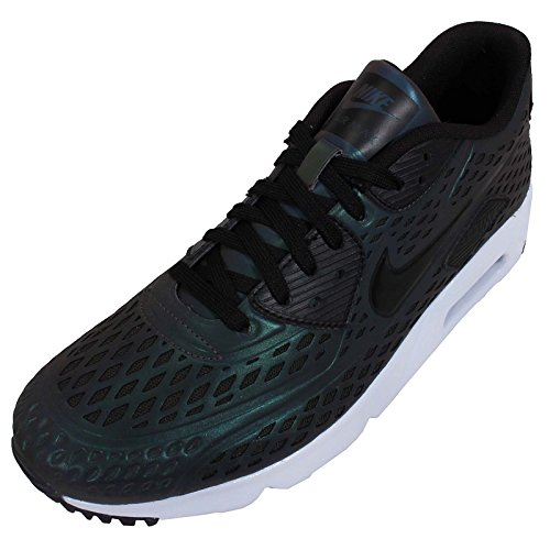 Nike Air Max 90 Ultra Moire Qs, Chaussures de Running Entrainement Homme DEEP PEWTER/BLACK-PORPOISE