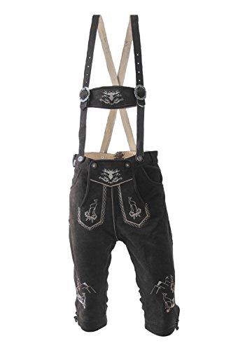 Herren Trachten Lederhose Kniebund schwarz oder braun Platzhirsch, Farbe:Schwarz;Lederhose Größe Herren:44 (Land Wildleder Hose)