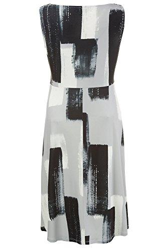 Ulla Popken Damen große Größen Kleid 711816 Schwarz